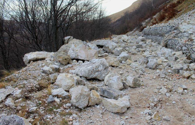 La strada che conduce al rifugio del Fargno