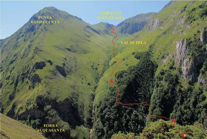 71 L'ultimo tratto della Val di Tela con la discesa alle Sorgenti dell'Acquasanta