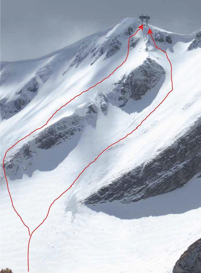 107 I canaloni di salita visti dalla Val di Bove